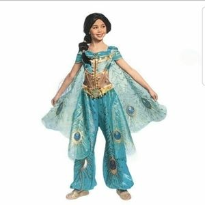 Disney Princess Jasmine Costume Jumpsuit Green 7/8